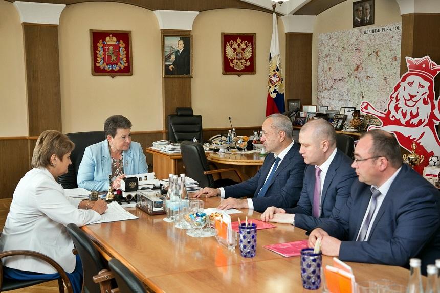 Губернатор Светлана Орлова встретилась с руководителем Центрального управления Ростехнадзора Евгением Резниковым